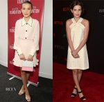 Millie Bobby Brown In Miu Miu &  SAG-AFTRA & 'Netflix's 'Stranger Things For Your Consideration' Events