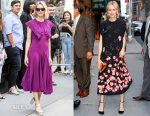 Naomi Watts In Zac Posen & Valentino - Build Series Presents: 'Gypsy' & The Late Show with Stephen Colbert