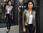 Nicole Scherzinger In IIJIN & Vintage Bird - X Factor Liverpool Auditions