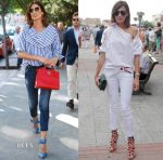 Nieves Álvarez In Celine, Dsquared2, Silvia Tcherassi & 7 For All Mankind - San Isidro