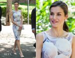 Queen Letizia of Spain In BOSS - Students Residence (Residencia de Estudiantes)  Visit