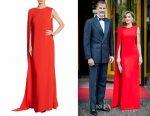Queen Letizia of Spain's Stella McCartney Cecilia cape gown