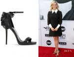 Reese Witherspoon's Jimmy Choo Kelly laser-cut ruffled-trimmed leather sandals