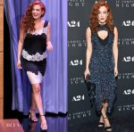 Riley Keough In Givenchy & Louis Vuitton - The Tonight Show Starring Jimmy Fallon & 'It Comes At Night' New York Premiere