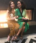Rowan Blanchard In Rodarte & Yara Shahidi In Emanuel Ungaro - Prom2k17