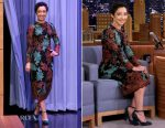 Ruth Negga In Dolce & Gabbana - The Tonight Show Starring Jimmy Fallon