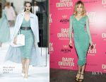 Suki Waterhouse In Max Mara - 'Baby Driver' New York Screening