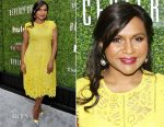 The Mindy Project Costume Conversation with Mindy Kaling (in Lela Rose) and Salvador Perez