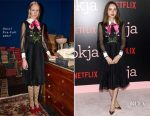 Zoe Kazan In Gucci - 'Okja' New York Premiere