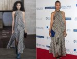 Zoe Saldana In Roland Mouret - The Navy Seal Foundation Benefit