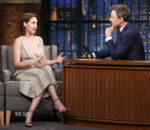 Alison Brie In Sally LaPointe - Late Night with Seth Meyers
