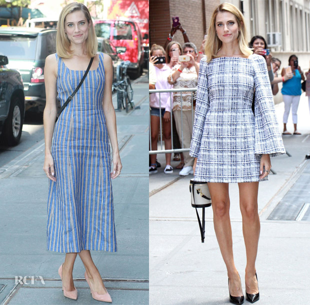 Allison Williams In Gabriela Hearst & Rosetta Getty - The View