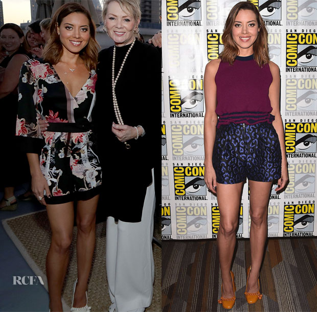 Aubrey Plaza in Topshop & 3.1 Phillip Lim - Comic Con 2017