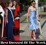 Best Dressed Of The Week - Queen Letizia of Spain In Giorgio Armani & Jenny Slate In Michael Kors Collection
