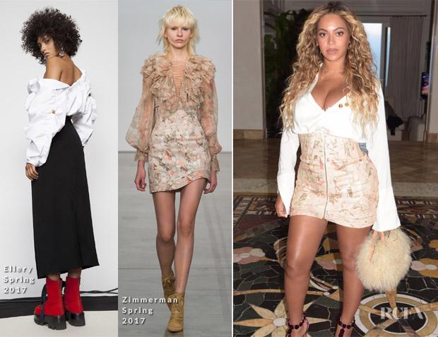 Beyonce Knowles In Ellery & Zimmerman - InstaStyle - Red ...