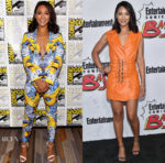 Candice Patton In Vladimiro Gioia & Concepto - Comic-Con 2017: 'The Flash' Press Line & Entertainment Weekly Comic-Con Party