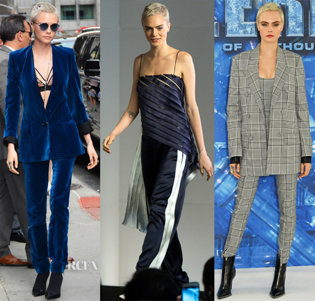 Cara Delevingne In Mugler, Dion Lee & Alexander Wang - 'Valerian And The City Of A Thousand Planets' Promo Tour