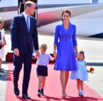 Catherine, Duchess Of Cambridge starts her royal tour of Germany in Catherine Walker
