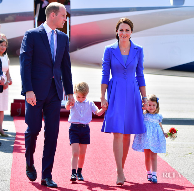 Catherine Duchess Of Cambridge Starts Her Royal Tour Of Germany In Catherine Walker Red