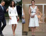 Catherine, Duchess of Cambridge In Alexander McQueen &  Gosia Baczyńska - Poland Official Visit