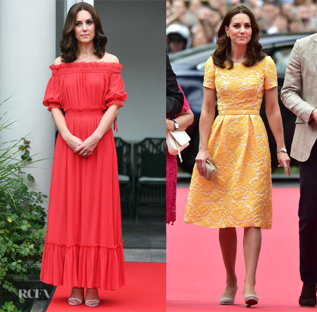 Catherine, Duchess of Cambridge In Alexander McQueen & Jenny Packham - Germany Royal Visit Day 2