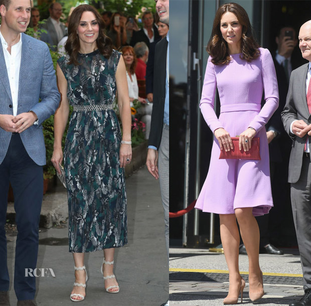 Catherine, Duchess of Cambridge In Markus Lupfer & Emilia Wickstead - Royal Germany Visit Day 2