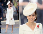 Catherine, Duchess of Cambridge attends The Passchendaele Commemorations in Alexander McQueen