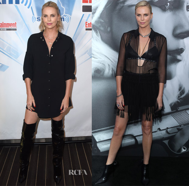 Charlize Theron Ny Blondes: Charlize Theron In Saint Laurent & Christian Dior