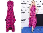 Dakota Fanning's Proenza Schouler Leopard-Print Crepe Dress