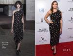 Elizabeth Olsen In Roland Mouret - 'Wind River' LA Premiere