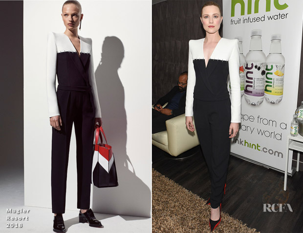 Evan Rachel Wood In Mugler - Comic-Con 2017: 'Westworld' Panel