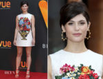 Gemma Arterton Attends Relaunch Of Vue Entertainment Venue in Dolce & Gabbana