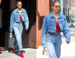 Gigi Hadid In Levis & Re/Done - Out In New York City