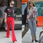 Gigi Hadid continues to vie for street style queen