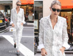 Gigi Hadid wearing Victoria Victoria Beckham out in New York City