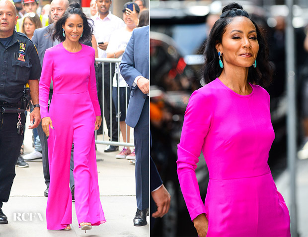 Jada Pinkett Smith In Adam Lippes - Good Morning America