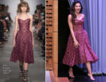 Jenna Dewan Tatum In Zac Posen - The Tonight Show Starring Jimmy Fallon