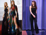 Jessica Biel In Elie Saab - The Tonight Show Starring Jimmy Fallon