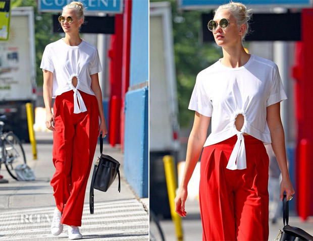Karlie Kloss showcases her 'Summer in New York City' style wearing Manning Cartell