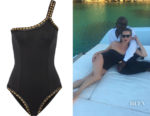 Kate Moss' Kiini Chacha One-Shoulder Metallic-Trimmed Swimsuit