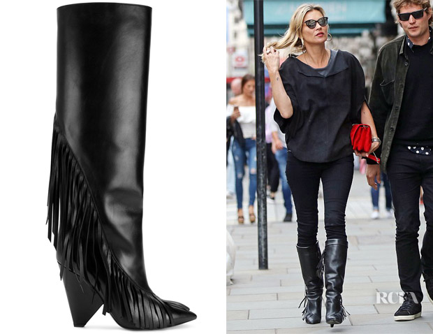 Kate Moss' Saint Laurent Niki Leather Boots