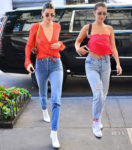Kendall Jenner & Bella Hadid both wear Bec + Bridge while out in New York City