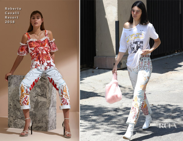 Kendall Jenner In Enfants Riches Déprimés & Roberto Cavalli - Out In LA