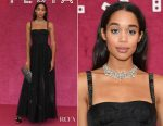 Laura Harrier In Christian Dior - Bvlgari Festa Party