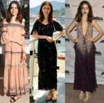 Lily Collins In Rachel Zoe & Carolina Herrera - AMBI Media Group Dinner + 2017 Ischia Global Film & Music Fest
