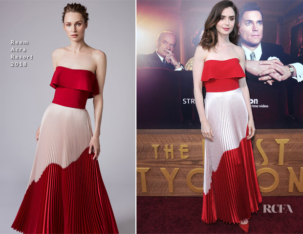 Lily Collins In Reem Acra - 'The Last Tycoon' LA Premiere