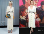 Lily James In Alessandra Rich - 'Baby Driver' Sydney Premiere