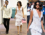 Lucy Mecklenburgh In Bronx and Banco - Wimbledon Tennis Championships