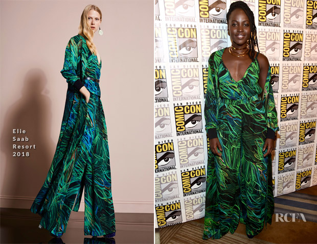 Lupita Nyong'o In Elie Saab - Comic-Con 2017: Marvel Studios 'Black Panther' Presentation