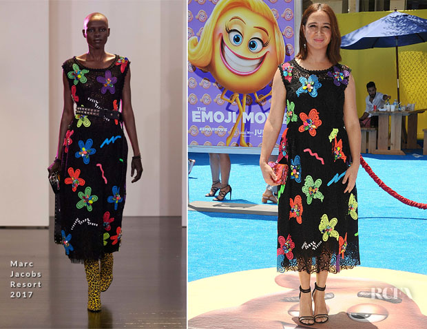 Maya Rudolph In Marc Jacobs - 'The Emoji Movie' LA Premiere